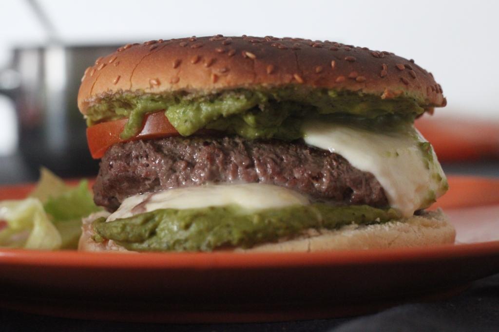 hamburger à l'avocat